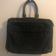 Vintage COACH Large Black Canvas Briefcase Documents Laptop Bag Messenger Bag