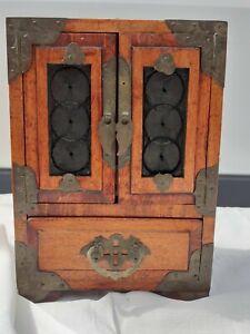 Antik Schönes kleine Schrank MINI Kommode für Schmuckwaren mit Schubladen