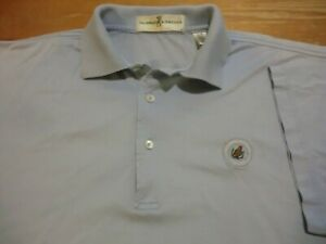 F&G Hyannisport Club Golf (Polo) Shirt, EUC - Mens Medium - Cape Cod, Light Blue