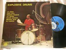 JO JONES Explosive Drums Cozy Cole Panama Francis J.C. Heard Ed Thigpen LP