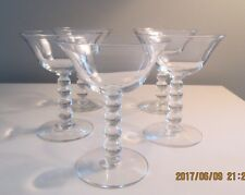 Vintage Imperial Candlewick Clear Crystal Champagne Water Glasses Set 5