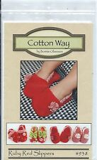 RUBY RED SLIPPERS Toddler Slippers Sewing Pattern from Cotton Way Sz 5-6 to 9-10
