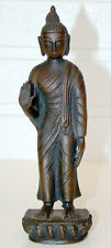 ANTIQUE Vintage CHINESE JAPANESE Bronze STANDING BUDDHA Figure / CHINA JAPAN