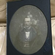 EXCEPTIONALLY RARE FULL-PLATE DAGUERREOTYPE of a WELL-DRESSED 1850s GENTLEMAN