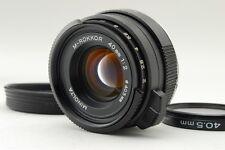 N.Mint Minolta M-Rokkor 40mm f/2 Lens +Hood Leica M Leitz CL CLE from Japan #q25