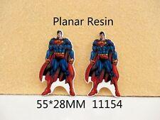 5 x 55 mm SUPERMAN TAGLIO LASER Resina Piatto Indietro FASCE Fiocchi Card Making targhe