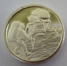 FRANKLIN Mint STERLING SILVER Mini-Ingot: FIRST MAN On The MOON, NEIL ARMSTRONG