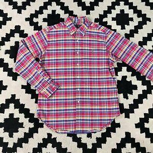 Polo Ralph Lauren Men's Button Down Shirt PINK PURPLE PLAID M