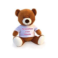 Pupazzo Peluche a Forma di Orso Pupazzetto Personalizzato con Foto Testo e Im...