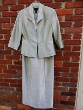 "Virgo sage green 2 piece jacket & sleeveless gown ""mother of bride"" dress 10 NWT"