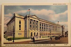 Kentucky KY Louisville US Post Office Court House Custom Postcard Old Vintage PC