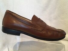 4a75215f96e Peter Millar Brown Leather Penny Loafer Shoes Mens 10 M Slip On Moc Toe  Casual