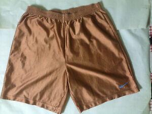 Nike Men Running Shorts, Size L Nike Golden Brown Sport Shorts Activewear Gym
