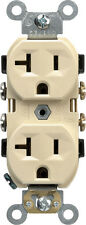 NEW! LEVITON Electrical Receptacle 20 Amps 5-20R 125 Volts Ivory Plug CBR20-00I