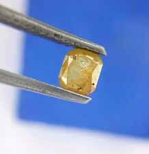 Sale super 0.38TCW Yellow Cushion Rose cut African Antique Natural Loose Diamond