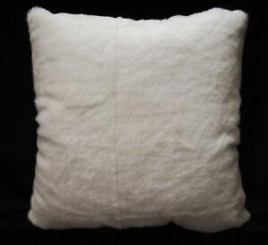 Fm843a Cream White Plain Short Faux Fur Cushion Cover/Pillow Case*Custom Size*