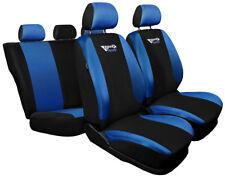 Cubiertas De Asiento De Coche Apto Fiat Grande Punto Azul/Negro Deporte Estilo Conjunto Completo