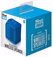 TRUST 21702 MUZO URBAN RECHARGEABLE WIRELESS BLUETOOTH 6W BLUE MINI SPEAKER