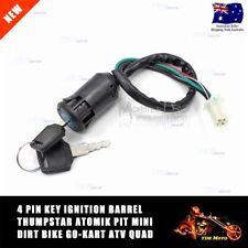 4 Pin Key Ignition Barrel Thumpstar Atomik Pit Mini Dirt Bike Go Kart ATV Quad