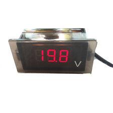 Motorcycle Red LED Digital Display Voltmeter Voltage Meter Boat ATV 12V-24V ETC