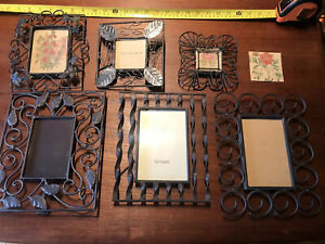 Lot Of 7 Metal Art  Quality Wire Frames Assorted Sizes
