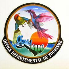 Autocollant GUADELOUPE - Office départemental du tourisme Sticker Année 80/90
