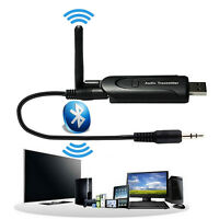 Bluetooth 4.0 Audio Transmitter USB A2DP Stereo Dongle Adapter for PC TV UK