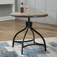 """36"""" Dining Table Bar Counter Height Table Swiveling Style Adjustable Metal Frame"""