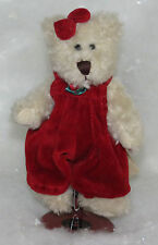 Boyds Bear Erin K Bear Girl Bear with Jumper Bow Stand and Tag