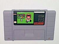 Kaizo Mario 3 - game For SNES Super Nintendo - Platformer - Very hard!
