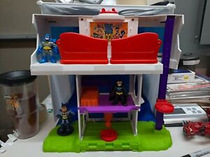 Teen Titans Go Tower Clubhouse Imaginext Playset Mattel 2016 NEAR COMPLETE