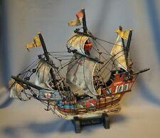 Santa Maria antikes Segelschiff Modellschiff Holzarbeit nach 1945 mehrfarbig