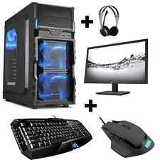 Gamer PC Set Completo Intel i5 7500 2gb gt730 1tb 8gb Gaming win10 TFT 21,5""