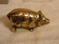 SOLID BRASS PAPERWEIGHT PIG WORLD SHOWCASE NIB  3 X 2 INCHES