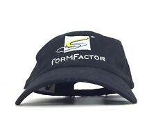 Form Factor Embroidered Black Baseball Cap Hat Adj Adult Size Cotton