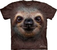 Sloth Face Kids T-Shirt from The Mountain. Cute Zoo Animal Childs Sizes NEW