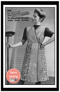 1940's Make Do and Mend Mrs Mop Overall Apron Sewing Pattern