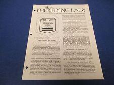 The Flying Lady Rolls-Royce, Magazine July 1978, Silver Ghost Award