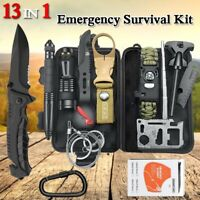 13 in 1 Emergency Survival Kit Outdoor Hiking Camping Tactical Gear Multi Tools