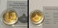 2 Euro Probeprägung Specimen Römische Verträge Vatikan 2007leichte Fehlprägung