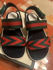 Gucci Toddler Chevron Knit Sandals For Toddlers