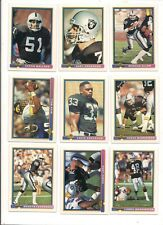 1991 Bowman Los Angeles Raiders Football Card Team Set (20 Different)