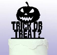 Personalised Trick or Treat Pumpkin Cake Topper - Halloween