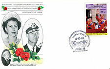 St VINCENT UNION ISL 1987 QUEEN 40th WEDDING ANNIVERSARY $1.50 FIRST DAY COVER
