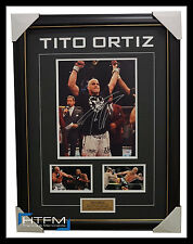 Tito Ortiz Signed UFC Photo Collage Framed with Photos PSA/DNA - RARE 1 ONLY