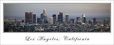 Poster Panorama City Skyline Los Angeles California Panoramic Fine Art Print