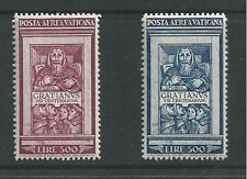 VATICAN CITY # C20-21 MLH FIFTH CENTENARY OF GRATIANUS 1951 Complete Set of 2