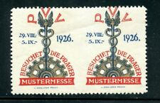 Czechoslovakia Poster Stamp 1926 Imperf between error Prague Fair
