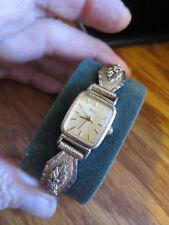 10K Black Hills Gold SEIKO Square Slim Face Ladies' Quartz Watch Western Flair