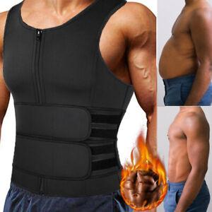 Men Sauna Suit Sweat Vest Tank Top Neoprene T-Shirt Body Shaper Waist Trainer US
